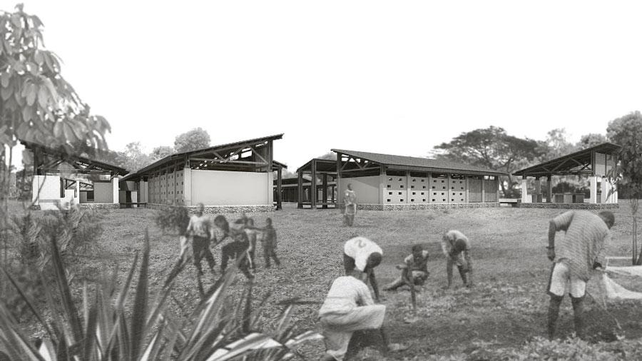 FAREstudio_FRC_Training-Centre_Sassara_Central-African-Republic_external-view_garden